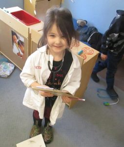 Girl Playing Doctor